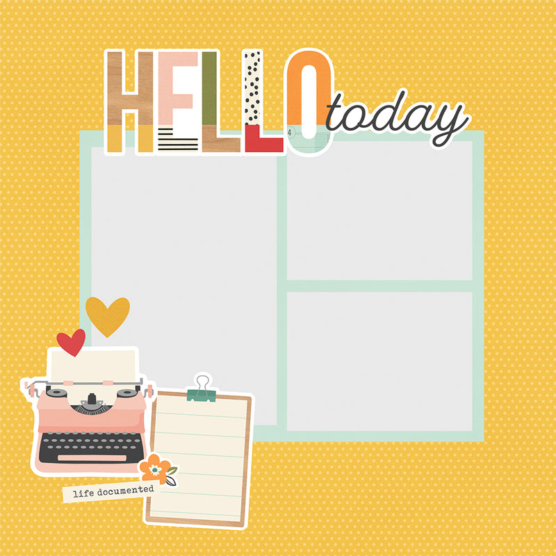 Simple Pages Page Pieces - Hello Today