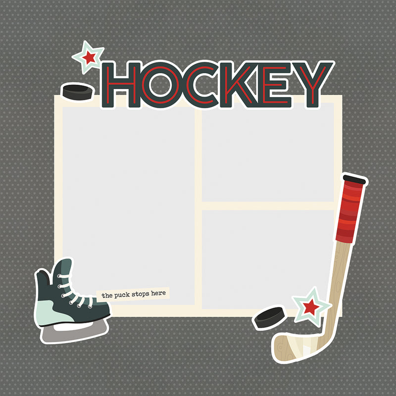 Simple Pages Page Pieces - Hockey