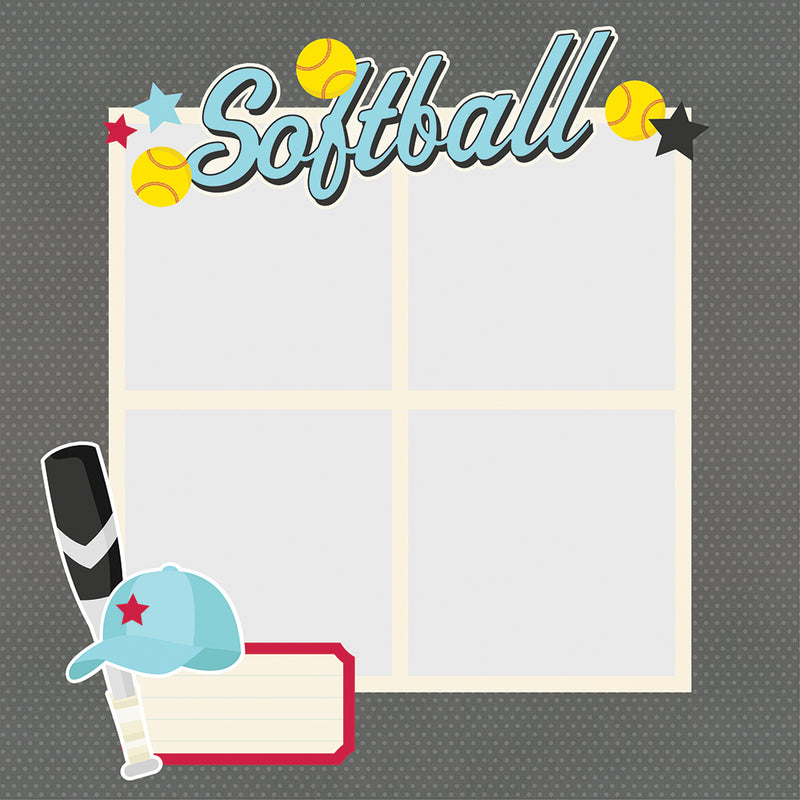 Simple Pages Page Pieces - Softball