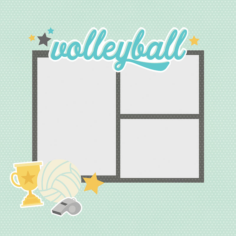 Simple Pages Page Pieces - Volleyball