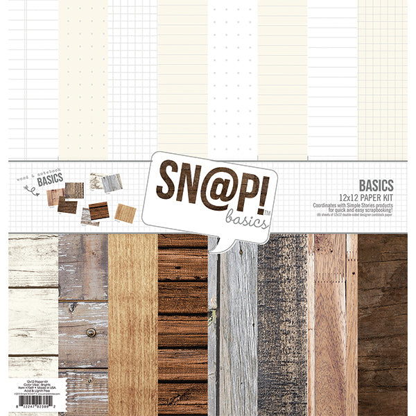 SN@P! Wood Basics 12x12 Paper Pack