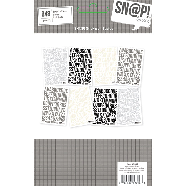 SN@P! Wood Basics 4x6 Basics Stickers