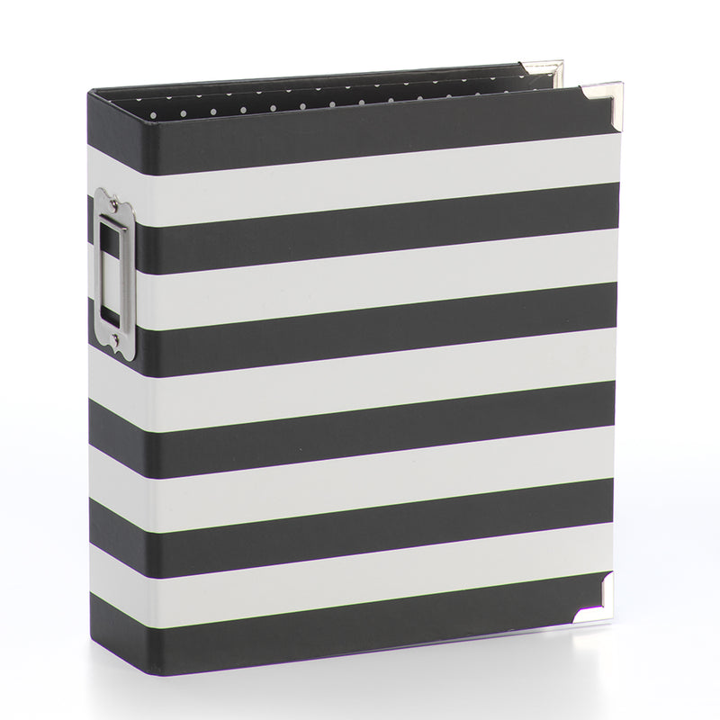 6x8 Designer Binder - Black Stripe
