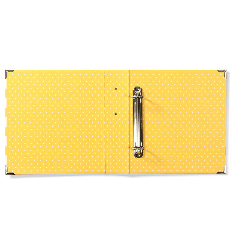 6x8 SN@P! Designer Binder - Yellow Stripe