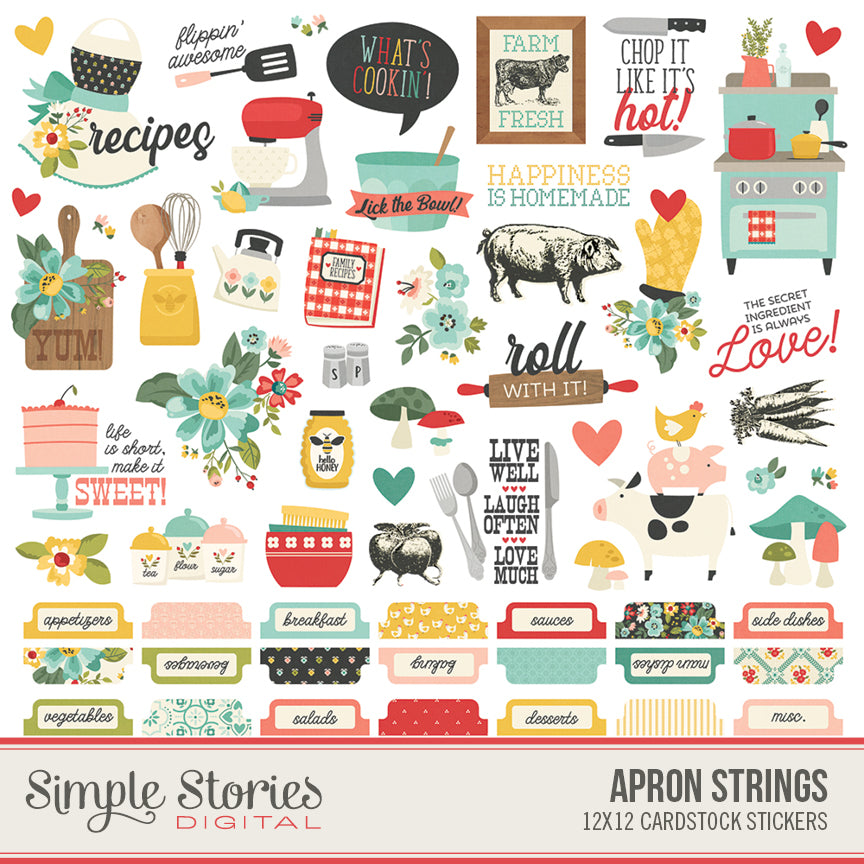 Apron Strings Digital Stickers