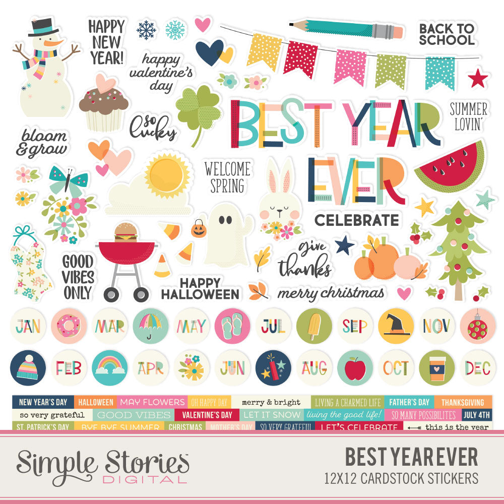 Best Year Ever Digital Stickers