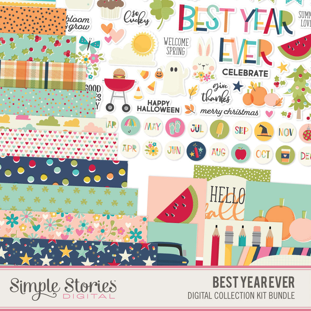 Best Year Ever Digital Collection Kit Bundle