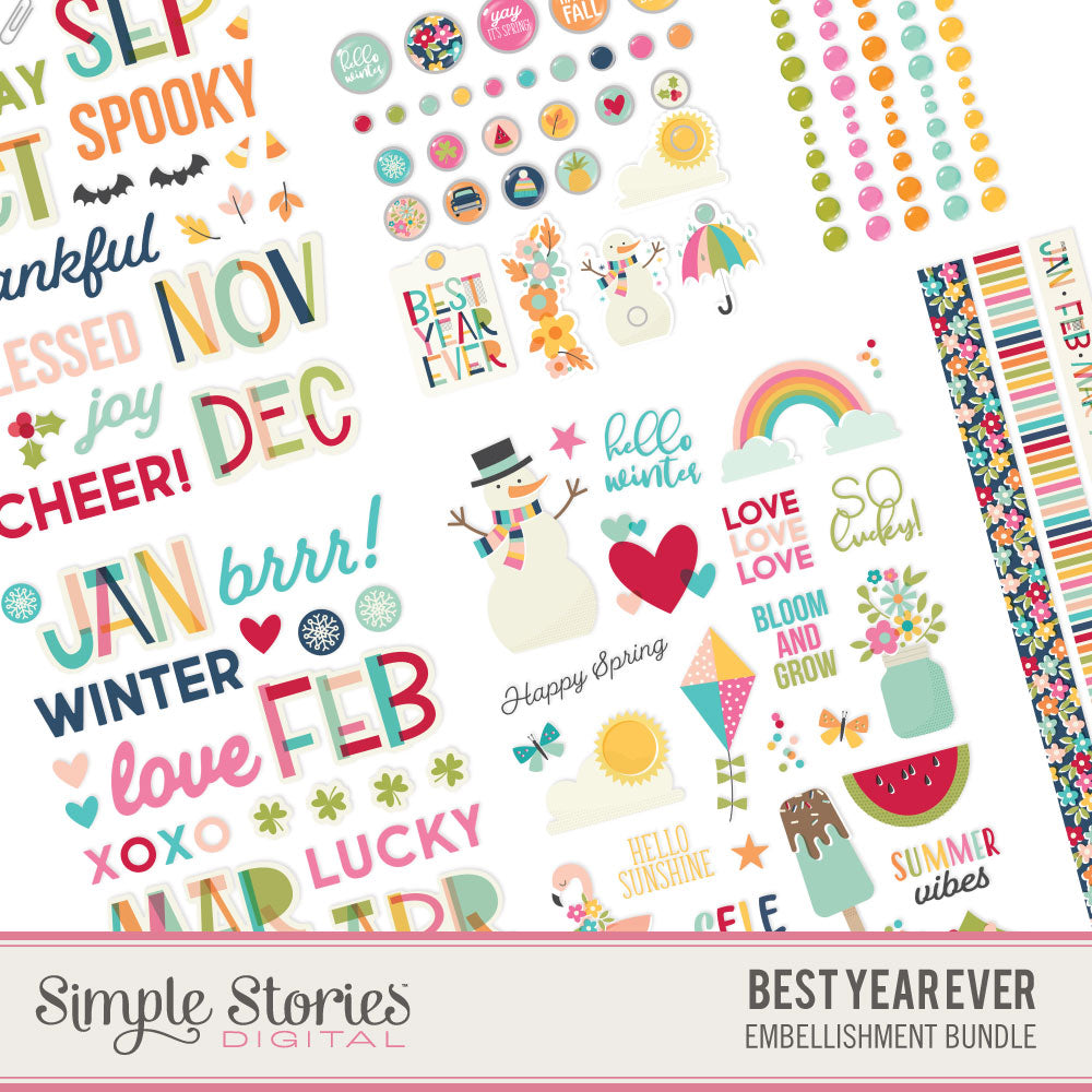Best Year Ever Digital Embellishment Bundle