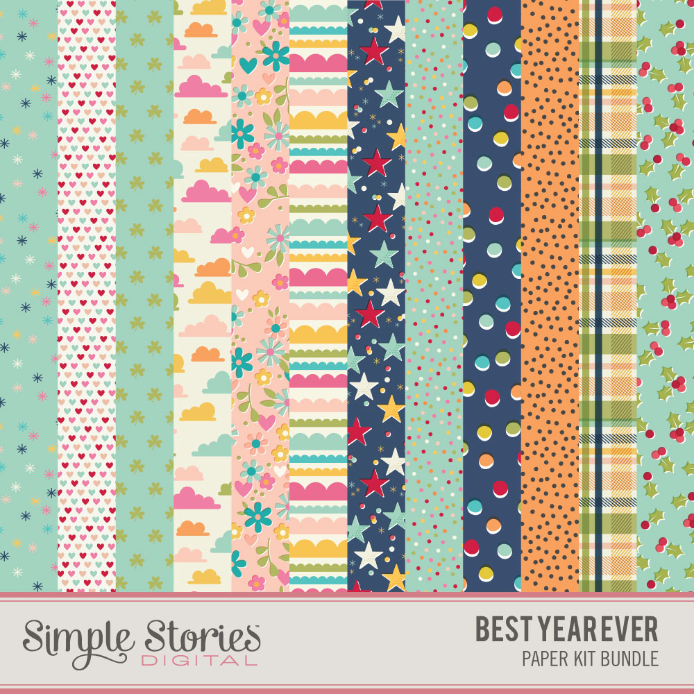 Best Year Ever Digital Paper Kit