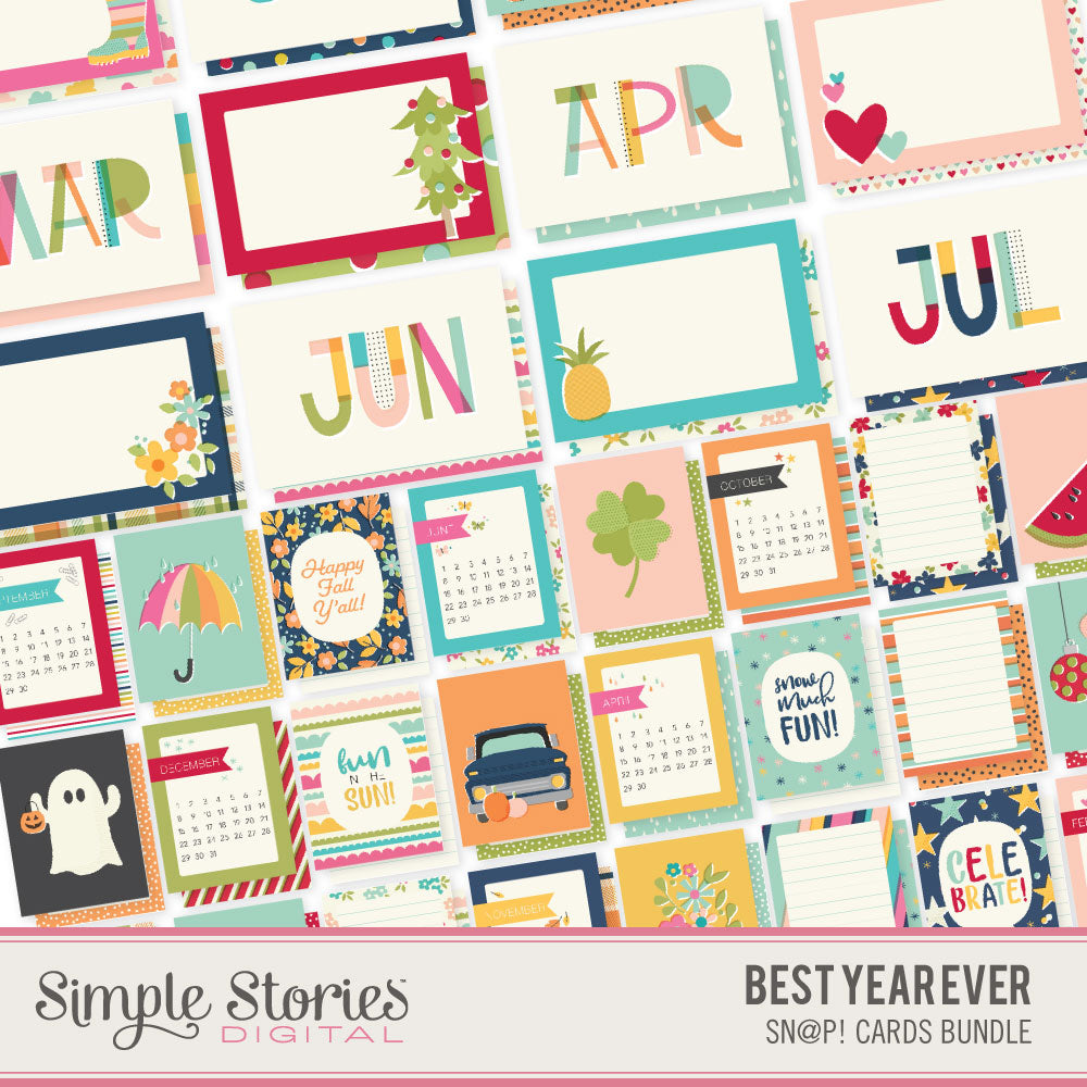 Best Year Ever Digital SNAP Cards