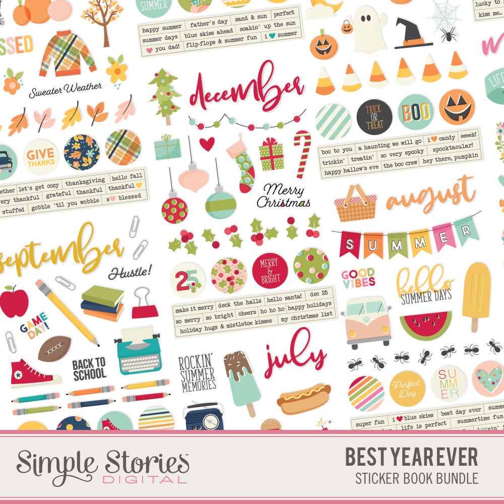 Best Year Ever Digital Sticker Tablet Bundle