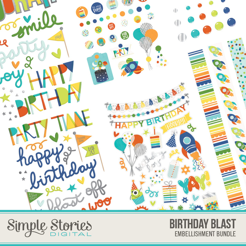 Birthday Blast Digital Embellishment Bundle