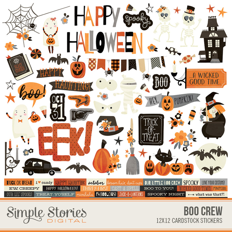 Boo Crew Digital Stickers