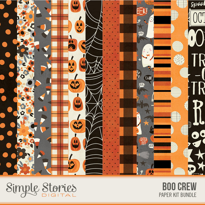 Boo Crew Digital Paper Kit