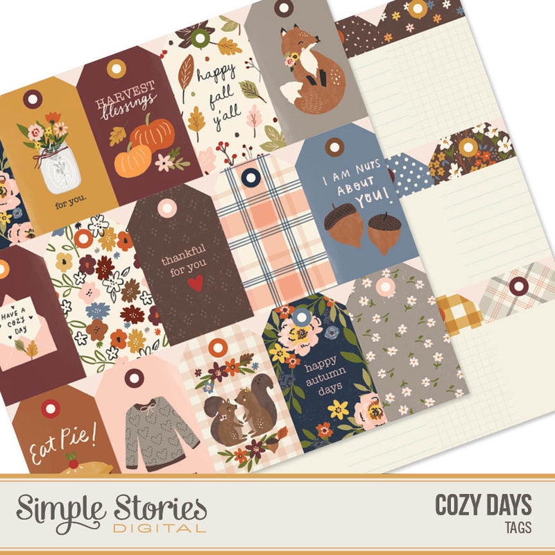 Cozy Days Digital Tags