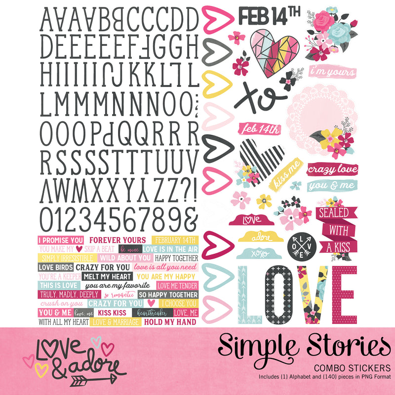 Love and Adore Digital Stickers