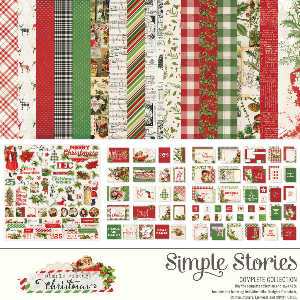 Simple Vintage Christmas Digital Collection Kit
