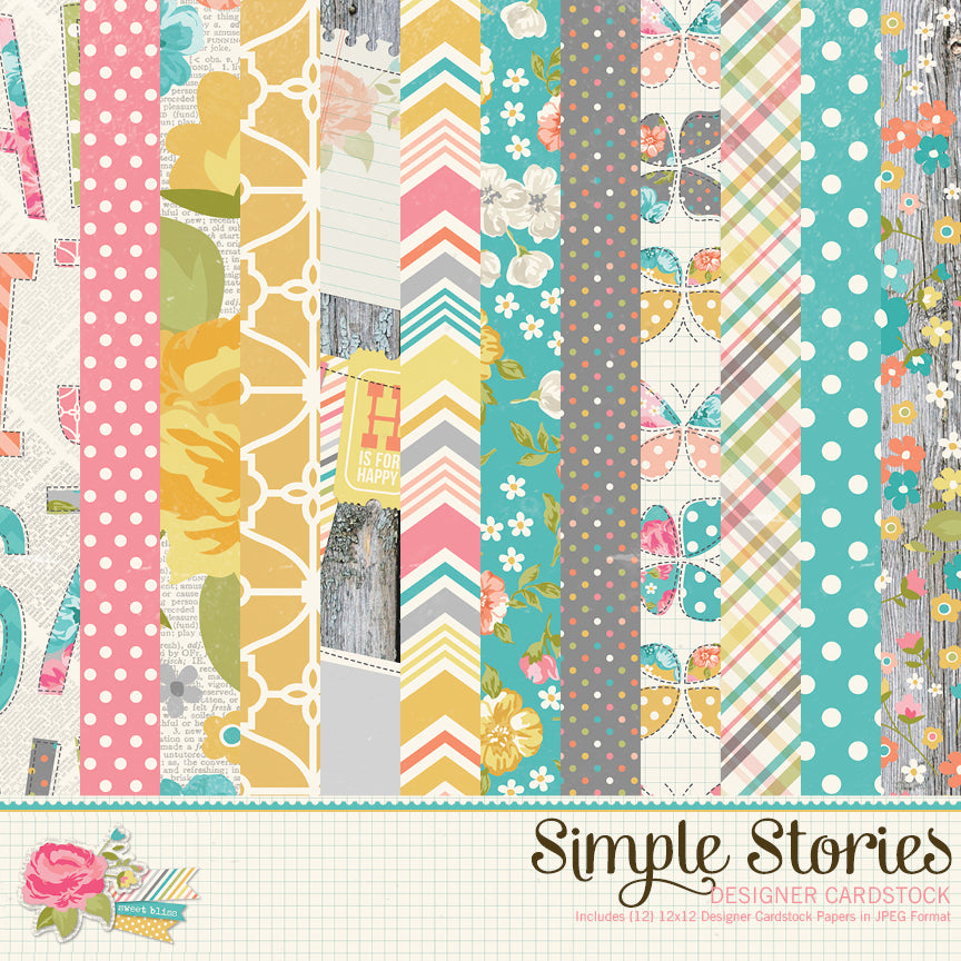 Vintage Bliss Digital Designer Cardstock