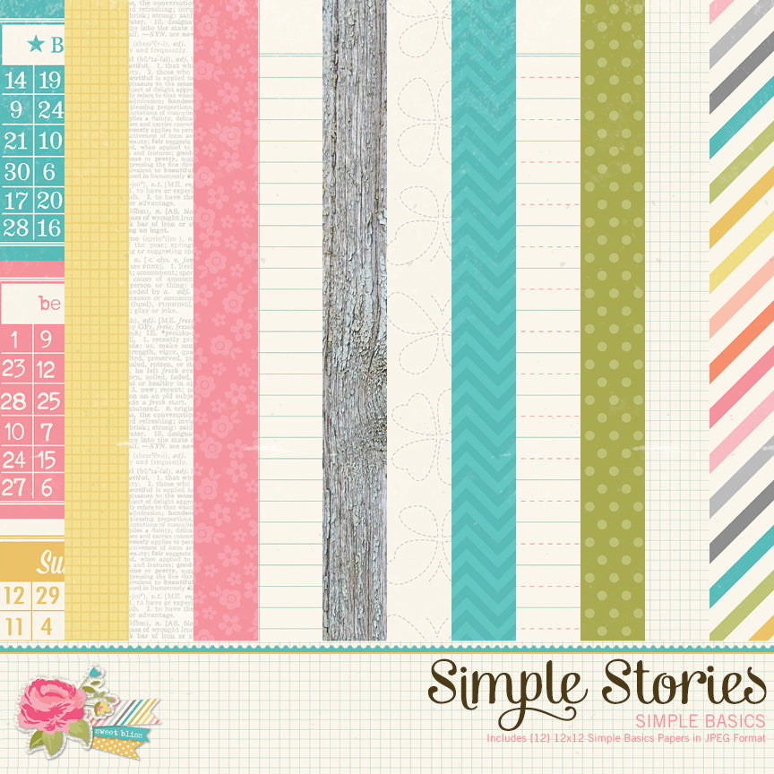Vintage Bliss Digital Simple Basics