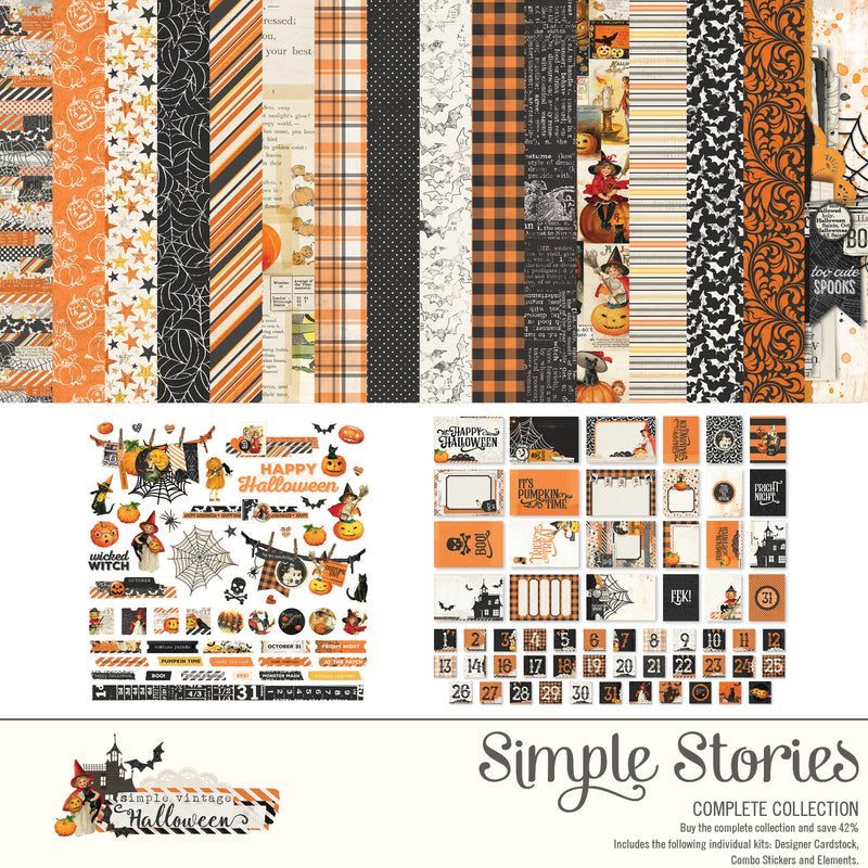Simple Vintage Halloween Digital Collection Kit