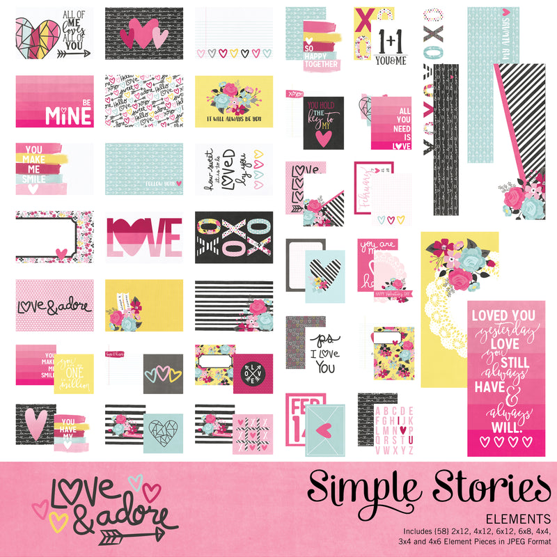 Love and Adore Digital Collection Kit