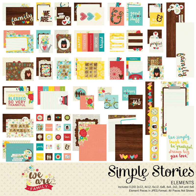 We Are Family Digital Designer Cardstock
