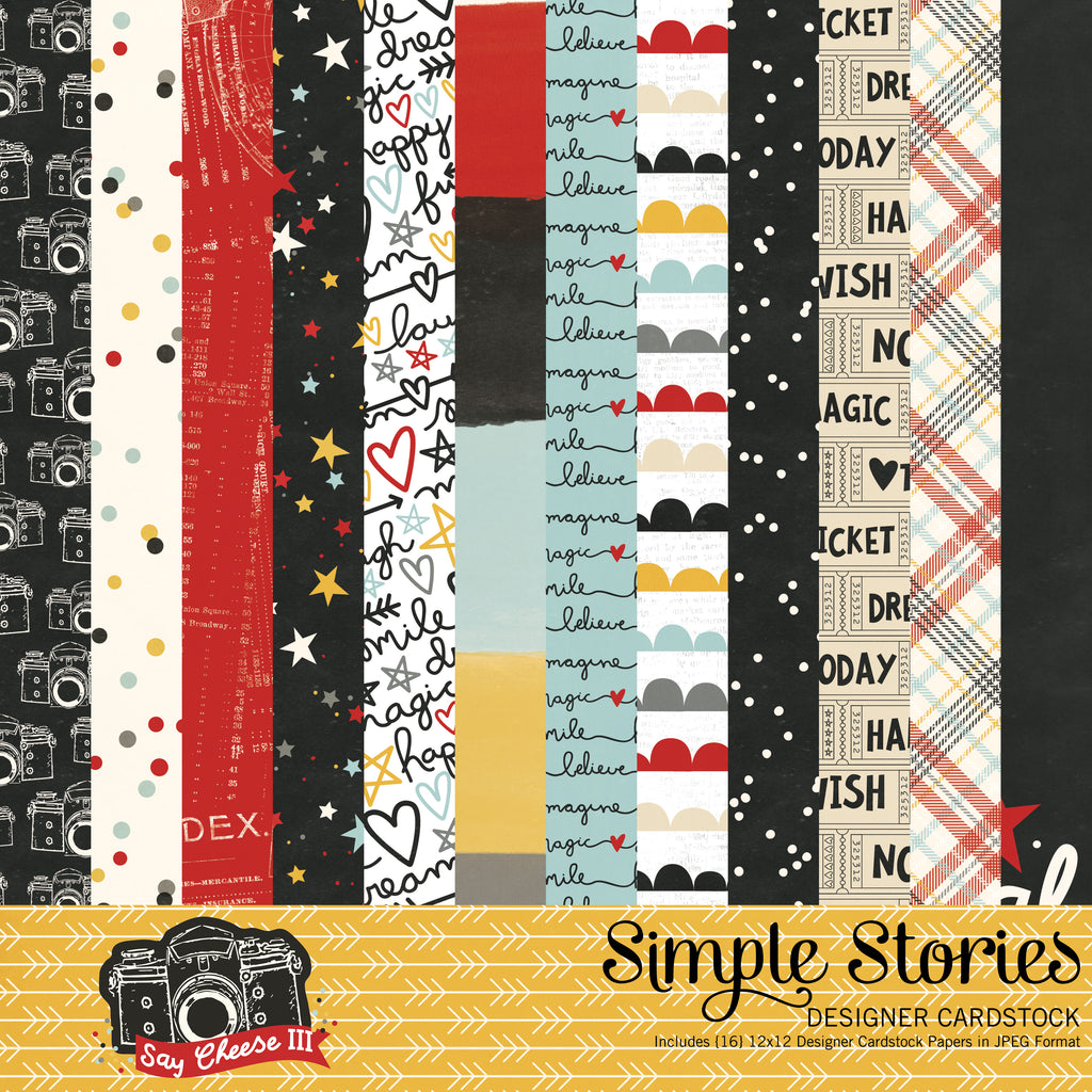 Say Cheese 3 Digital Designer Cardstock