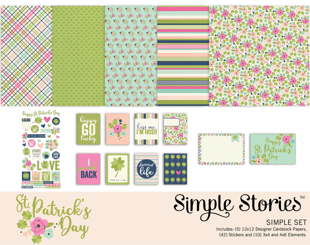 St. Patricks Day Digital Simple Set