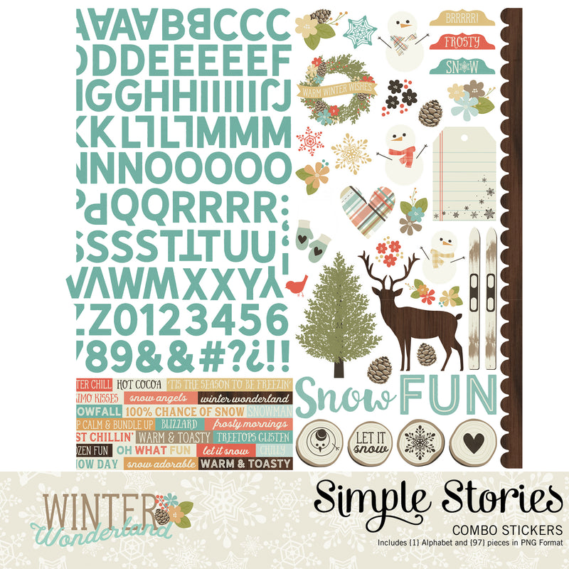 Winter Wonderland Digital Stickers