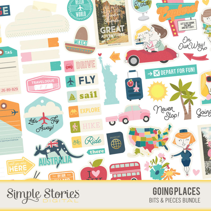 Going Places Digital Stickers