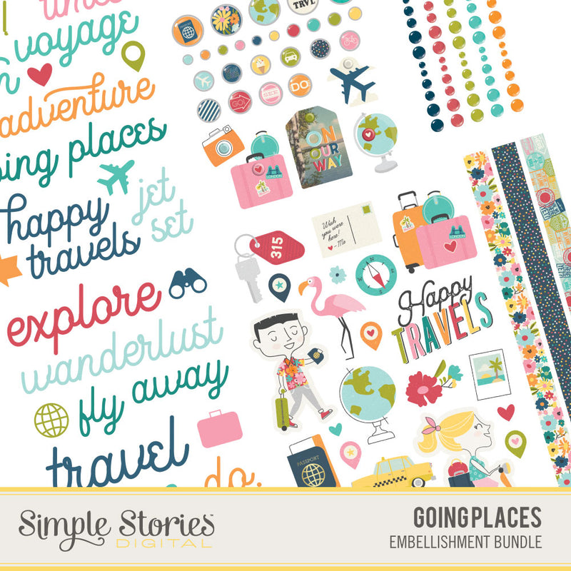 Going Places Digital Embellishment Bundle