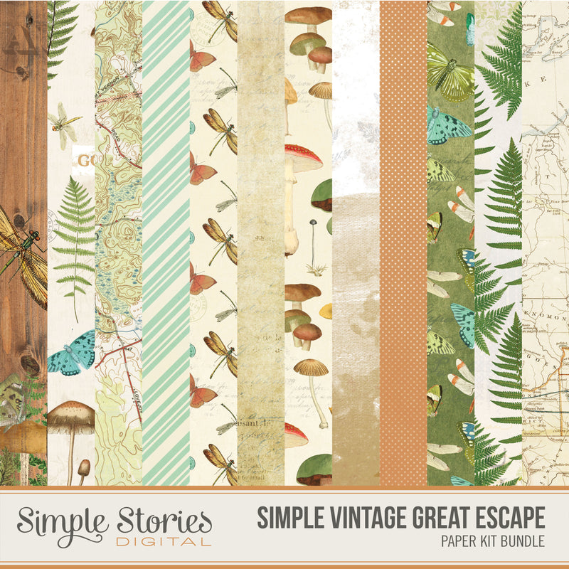 Simple Vintage Great Escape Digital Elements