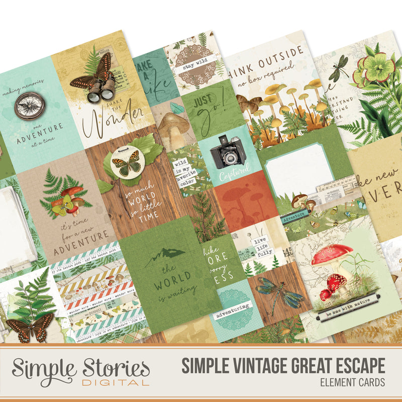 Simple Vintage Great Escape Digital Stickers