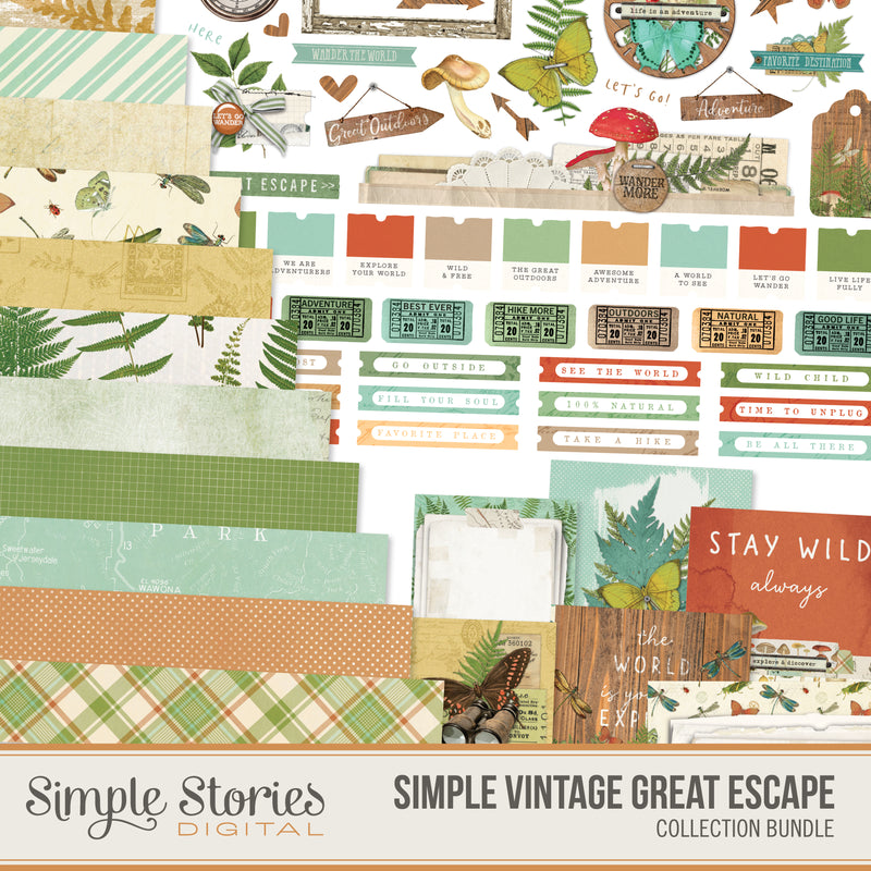 Simple Vintage Great Escape Digital Collection Kit Bundle
