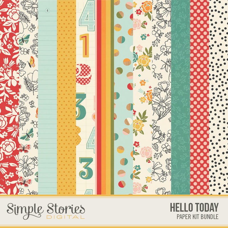 Hello Today Digital Paper Kit