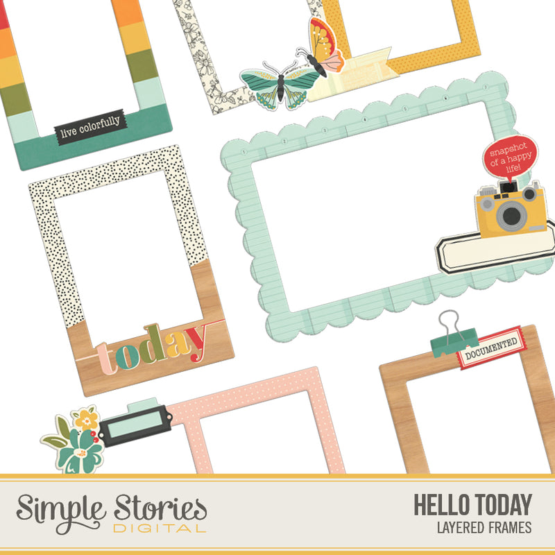 Hello Today Digital Chipboard Frames