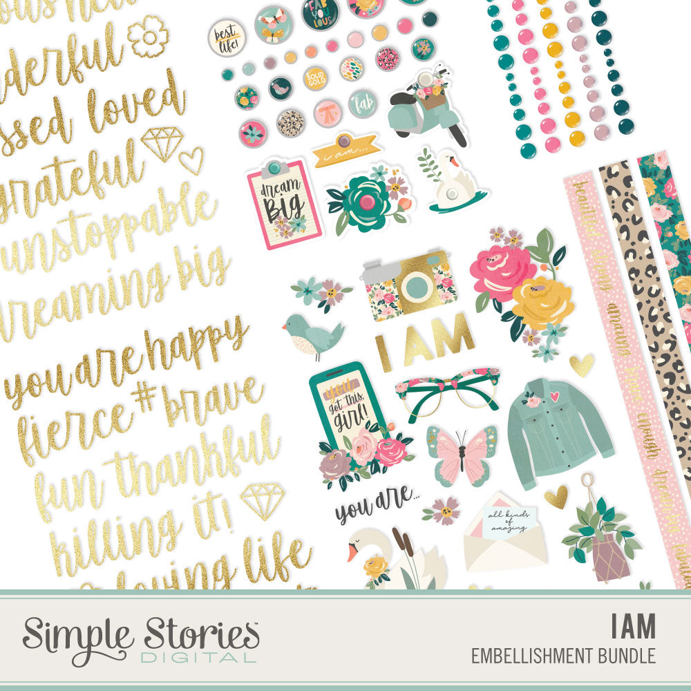 I Am Digital Embellishment Bundle