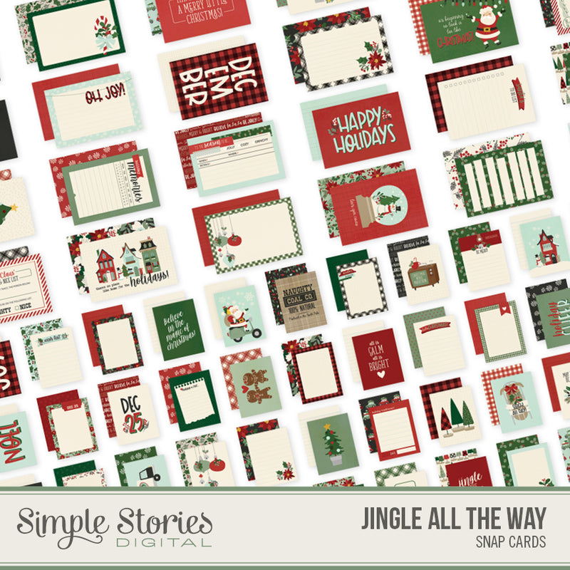 Jingle All the Way Digital Sn@p Cards
