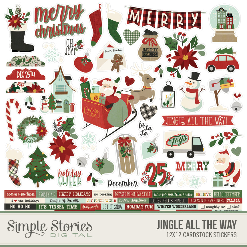 Jingle All the Way Digital Stickers