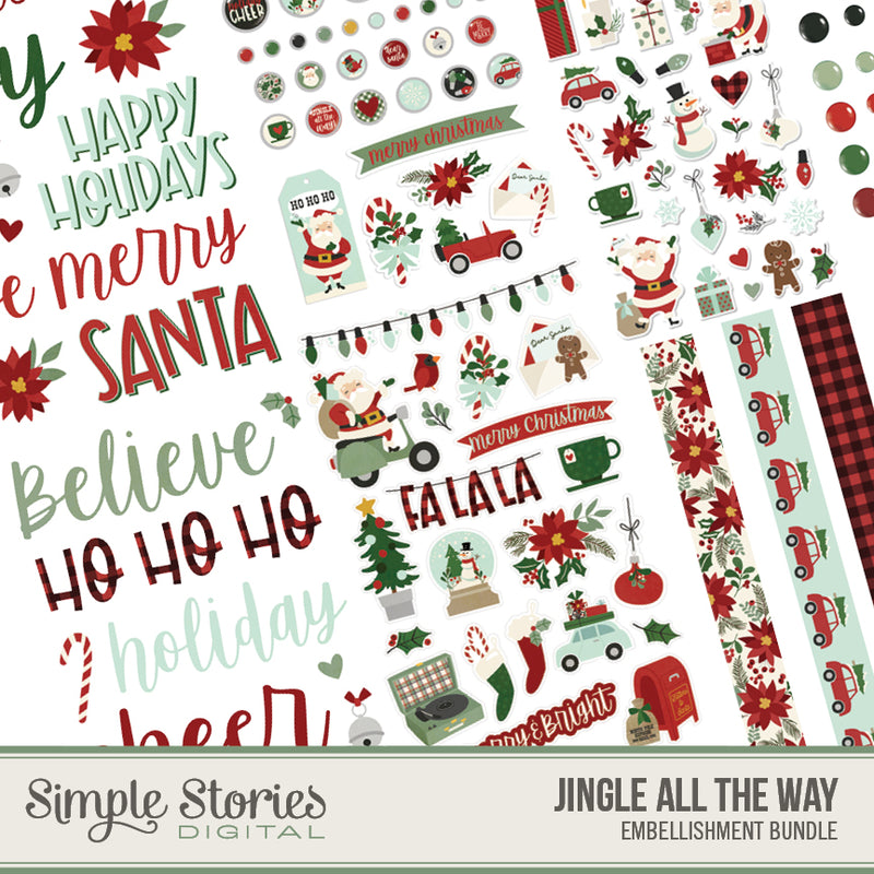 Jingle All the Way Digital Embellishment Bundle