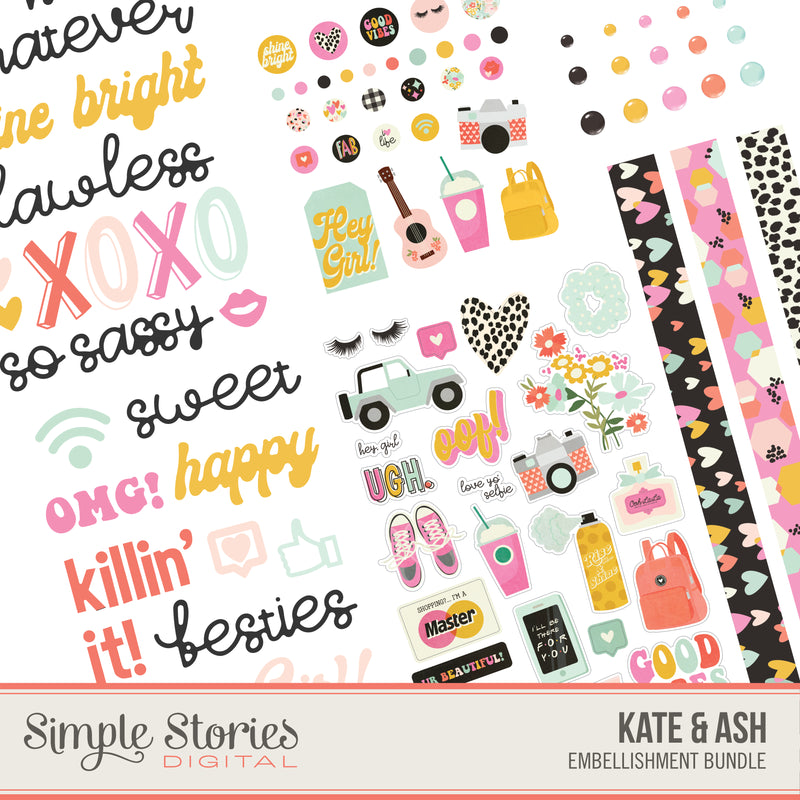 Spring Farmhouse Digital Designer Cardstock