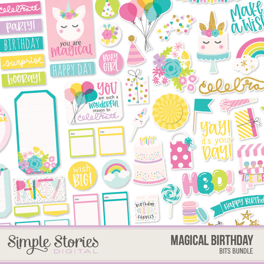 Magical Birthday Digital Bits Bundle
