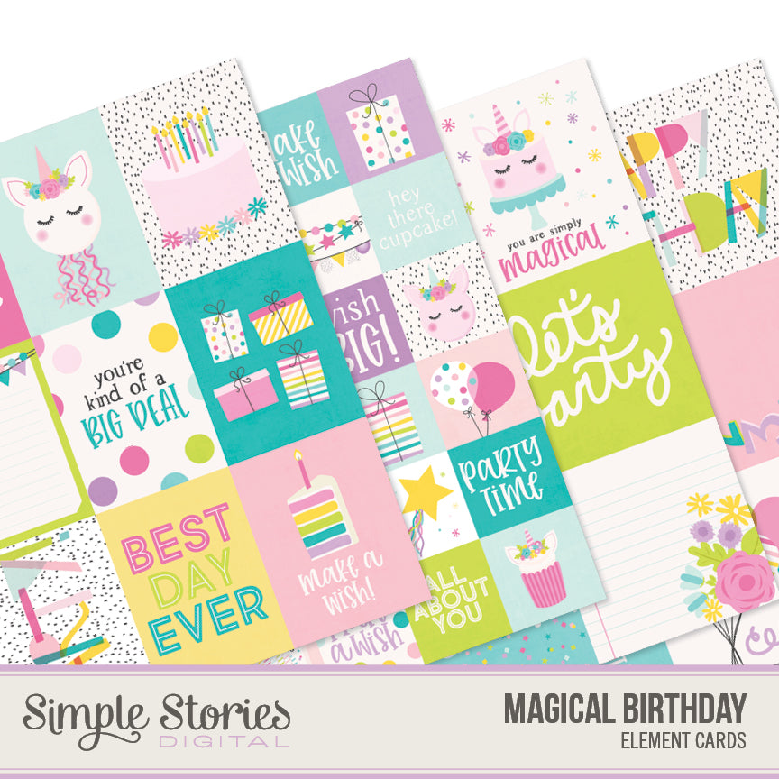 Magical Birthday Digital Elements