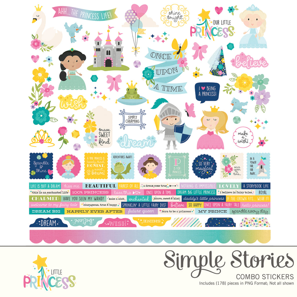 Little Princess Digital Stickers