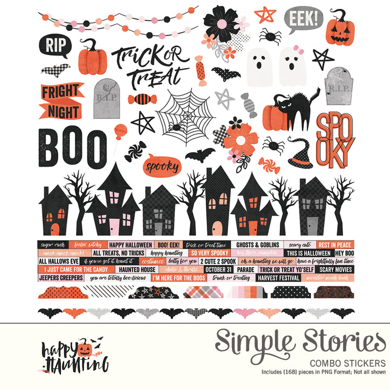 Happy Haunting Digital Designer Cardstock