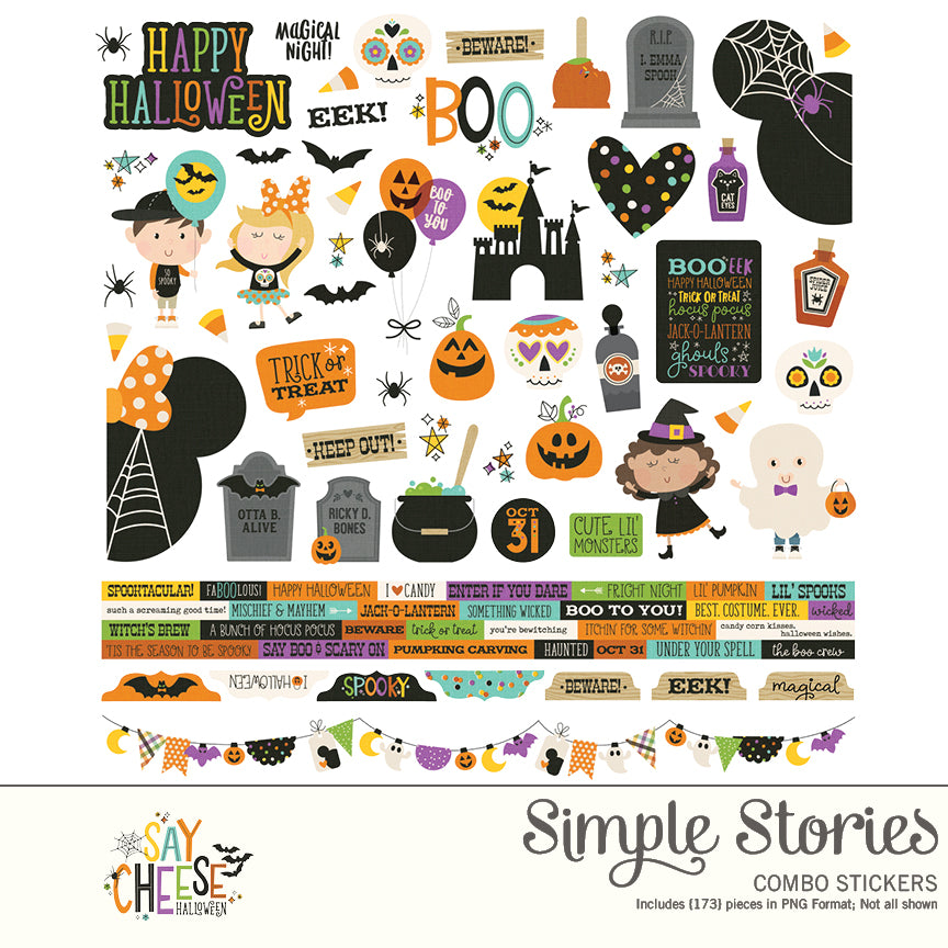 Say Cheese Halloween Digital Stickers