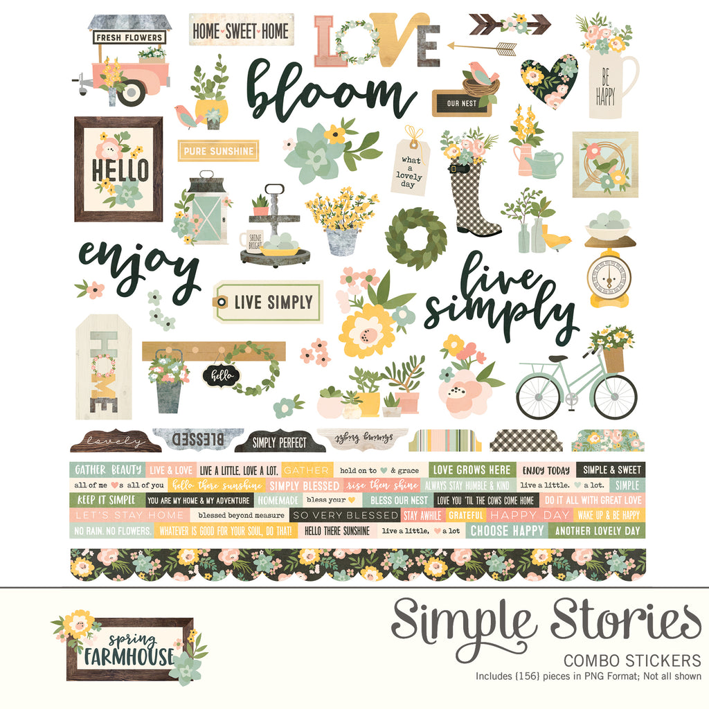 Spring Farmhouse Digital Stickers