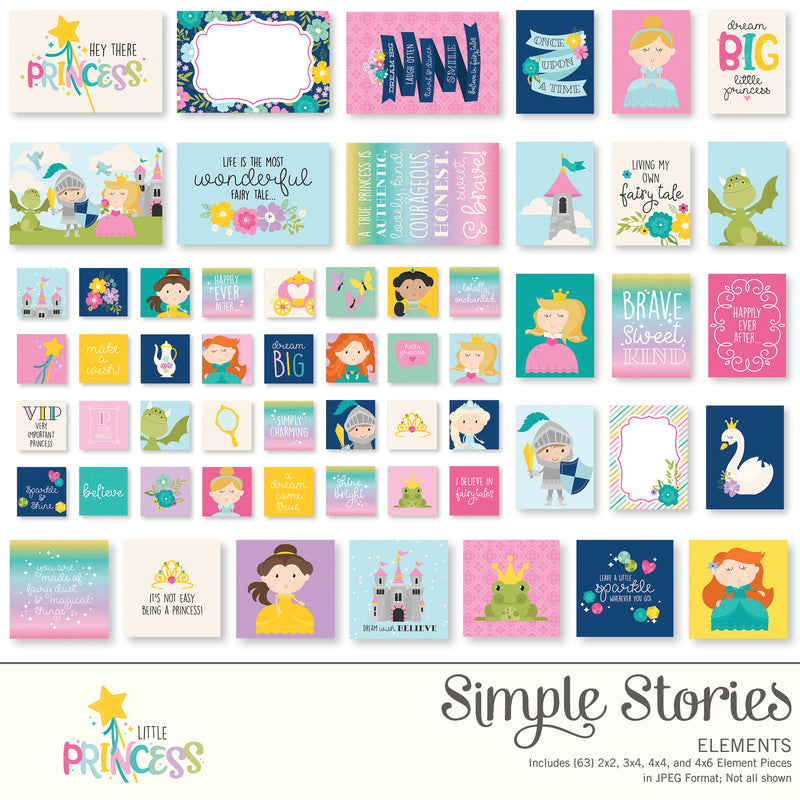Little Princess Digital Designer Cardstock
