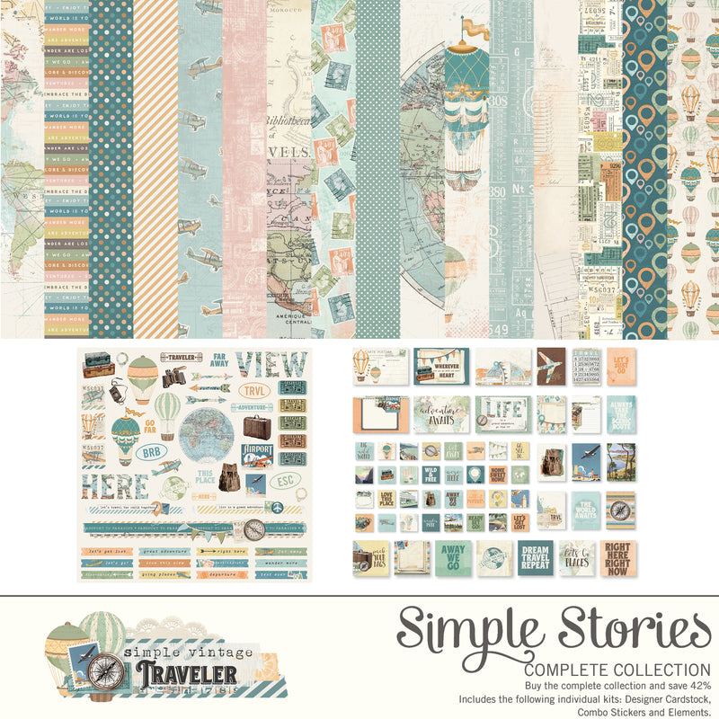 Simple Vintage Traveler Digital Collection Kit