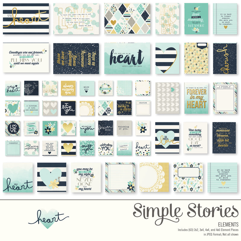 Heart Digital Designer Cardstock